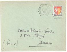 4310 LES PETITES DALLES Seine Maritime Hexagone Pointillé Agence Postale Lautier F7 Blason Agen 12c Yv 1353A Ob 1965 - Postmark Collection (Covers)