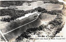 Canada - CAMP SCOUT De ST LOUIS DE FRANCE - Carte Photo Souvenir , Visite SCOUTS De FRANCE Aout 1955 - STUDIO PICARD -3 - Trois-Rivières