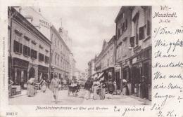 WR.NEUSTADT (NÖ) - Neunkirchnerstrasse Mit Hotel Gold.Hirschen, Gel.1901, Sehr Seltene Karte In Guter Erhaltung - Wiener Neustadt