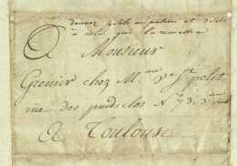 1804 Lettre Du Mageste Pour Toulouse Mention D'un BATEAU DE POSTE Premier Empire Durand - Historical Documents