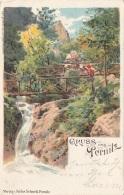 Litho Gruss Aus PERNITZ (NÖ) - Künstlerkarte, Gel. 1899, Gute Erhaltung - Pernitz