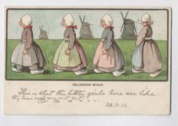 FILLETTES DE HOLLANDE - 1906 - Hollandsche Meisjes - Pays Bas - Illustration - Netherlands