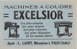 1 Buvard : Machines à Coudre EXCELSIOR - Wash & Clean