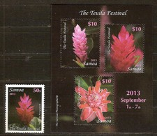 Samoa  2013 Yvertn° 1098 Et Bloc 84 *** MNH   Cote 44,50 Euro Flore Fleurs Bloemen Flowers - Samoa