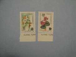 1990 Turquie  Yv 2626 + 2628 ** Fleurs Flowers  Scott Xx  Michel 1880 + 1882  SG Xxx - 1921-... République