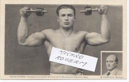 Ernest CADINE Champion Du Monde De FORCE Aux J.O. D'ANVERS En 1920 Et Mr CORNEAU Manager - 1641217 - Jeux Olympiques