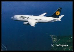 AIRPLANES - MODERN ERA -«LUFTHANSA» BOEING 737-300.  Carte Postale - 1946-....: Moderne
