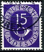 BRD - Michel 129 - OO Gestempelt (A) - 15Pf   Posthorn - [7] West-Duitsland