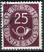 BRD - Michel 131 - OO Gestempelt (A) - 25Pf   Posthorn - [7] West-Duitsland