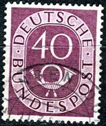 BRD - Michel 133 - OO Gestempelt (D) - 40Pf   Posthorn - Gebruikt
