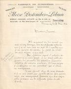 Lettre Ancienne/Fabrique De Cuisinières/Chauffage Serrurerie/Moïse DESTOMBES-LEBRUN/ TOURCOING/1930  FACT259 - France