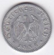 Allemagne, IIIème Reich, 50 Reichspfennig 1939 J (HAMBOURG)     Aluminium - [ 4] 1933-1945 : Third Reich