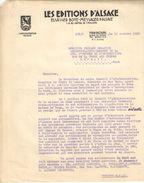 Lettre Ancienne (2 Pages)/Les Editions D'Alsace/ Administrateur Délégué/ STRASBOURG/ /1932  FACT261 - Imprimerie & Papeterie