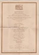 CHEMIN DE FER-INAUGURATION-SAINT-GHISLAIN-ATH-9.11.1879-BANQUET-MENU-LITHO-HAVERMANS-DOCUMENT EXTRA-RARE-VOYEZ 2 SCANS! - Documents Historiques