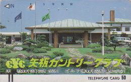 Télécarte Ancienne Japon / 110-11177 - Sport - GOLF COUNTRY CLUB - Japan Front Bar Phonecard / B - Balken TK - Sport