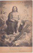 418 - DANTE ALIGHIERI DIVINA COMMEDIA PARADISO CANTO XXIII TERZINA 7 ED BOTTONI ROMA 1900 CIRCA - Belle-Arti
