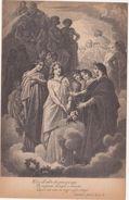 425 - DANTE ALIGHIERI DIVINA COMMEDIA PARADISO CANTO III TERZINA 12 ED BOTTONI ROMA 1900 CIRCA - Oggetti D'arte
