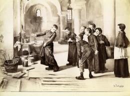France Arts Peinture Les Enfants De Choeur Par Charles-Bertrand D'Entraygues Ancienne Photo 1900 - Photographs
