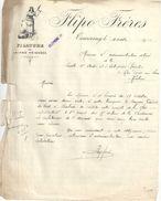 Lettre Ancienne/ Filature De Laines Peignées/ FLIPO-FRERES / TOURCOING / Nord /1912  FACT263 - Textile & Vestimentaire