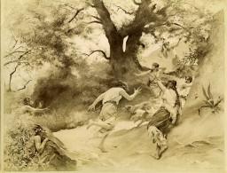 France Arts Peinture Satyres Par Auguste Hirsch Ancienne Photo 1900 - Photographs