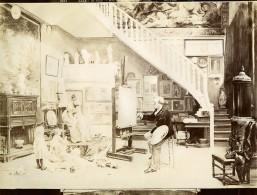 France Arts Peinture Salon De 1898 Mes Modeles Par Timoléon Lobrichon Ancienne Photo 1900 - Old (before 1900)