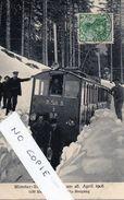 68 Haut-Rhin, Tramway Schlucht, Bloqué Par La Neige Le 25 Avril 1908, - Munster