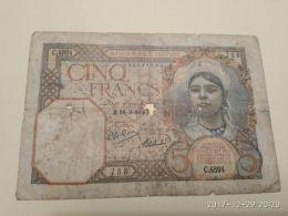 5 Francs 1942 - Algeria