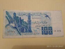 100 Francs 1981 - Algeria