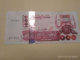 1000 Francs 1998 - Algeria