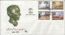 SOUTH AFRICA - FDC PAINTINGS PEERNEEF 1989 Mi #779-782 - FDC