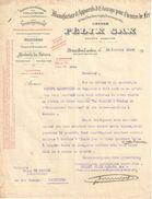 Lettre Ancienne/Manufacture D'Appareils D'Eclairage Pour Chemins De Fer/Felix SAX/BRUXELLES/Belgique/1924        FACT265 - Transport