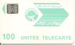 CARTE-PUCE-OPT-DJIBOUTI-100U--SC5-VERTE PALE-SCHLUM-V° N° 5 Ge 23774 Dans Cadre-UTILISE-TBE - Djibouti