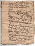 Succession Dubois à Suèvres En 4 Lots (4 Enfants) 1744 Cachet Généralité Orléans Un Sol. 4 Den. 12 Pages - Cachets Généralité