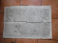 NANTES Flle 17 CARTE LEVEE PAR LES OFFICIERS DU CORPS D'ETAT-MAJOR ET PUBLIEE PAR LE DEPÔT DE LA GUERRE EN 1858 1/520000 - Topographical Maps
