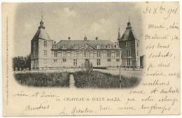 (71) 108, Sully, Bourgeois 24, Château, Dos Non Divisé, Voyagée En 1901, Bon état, Pliure Angle Sup Gauche - France