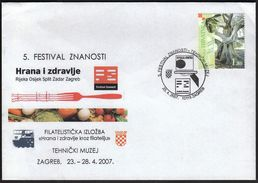 Croatia Zagreb 2007 / Science Festival / Food And Health In Philately - Kroatië