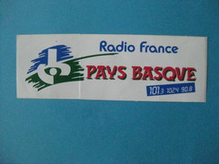 Autocollant  : Radio France PAYS BASQUE  & - Autocollants
