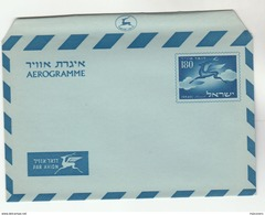 1955 ISRAEL 180 AEROGRAMME Postal Stationery Cover Stamps Deer - Israel