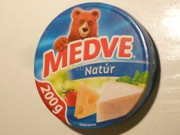 Cheese Queso Kase Label Etikette Etiqueta Hungary Medve Nature 200g BOX - Käse