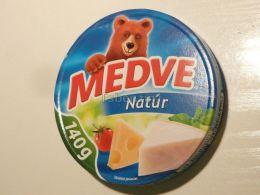 Cheese Queso Kase Label Etikette Etiqueta Hungary Medve Nature 140g BOX - Käse