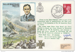 1977  RAF CYPRUS WWI Anniv UNFICYP Helicopter SIGNED Special  FLIGHT COVER British Forces  Gb Aviation Un United Nations - Cyprus (Republic)