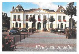 27 Fleury Les Andelle L'Hotel De Ville Avec Automobiles Renault  (2 Scans) - France