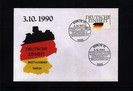 Germany / Deutschland Berlin 1990 Deutsche Einheit FDC - Cartas