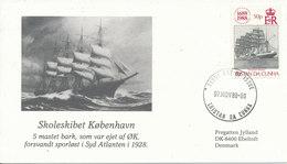 Tristan Da Cunha Cover 7-11-1988 Salutes The Danish Frigate Jylland With Cachet - Tristan Da Cunha