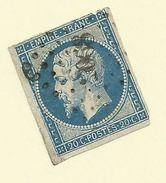 France - 1853/60 20c Blue - Sc#15a - FU - S.36 - 1853-1860 Napoléon III