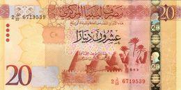 LIBYA 20 DINARS ND (2016) P-83a UNC CENTRAL BANK IN BEIDA [LY548a] - Libya