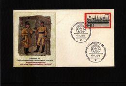 Germany / Deutschland 1973 Hamburg 100 Jahre Oberpostdirektion - Post