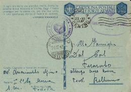 FRANCHIGIA WWII POSTA MILITARE AERONAUTICA 2 SQUADRA AEREA 1942 PADOVA PERAROLO - Militärpost (MP)