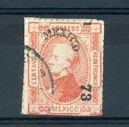 Mexique  :  Yv  51b II  (o)  Avec Filigrane , Percé Enpoints ,  Signé - Messico
