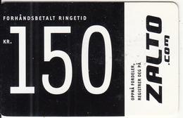 NORWAY - Zalto Prepaid Card NOK 150, Used - Norway